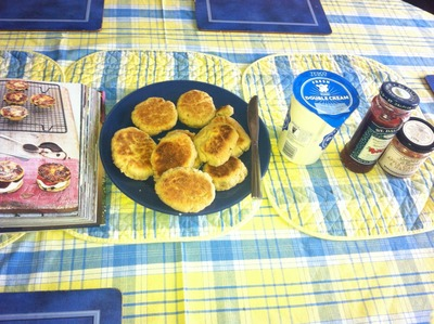 Welsh Cakes served