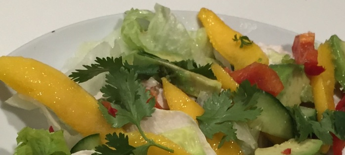 Add mango or pineapple to the salad for a sweet tropical twist