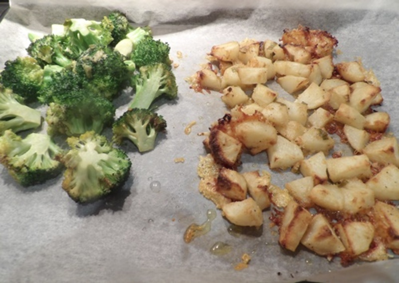 making,the,mango,butter  - Marinated Chicken Breasts with Mango Butter and Dijon Roast Potatoes & Broccoli