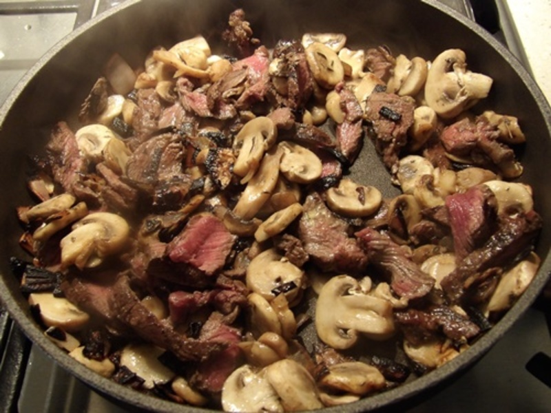 adding,ingredients  - Cold Beef in Sour Cream