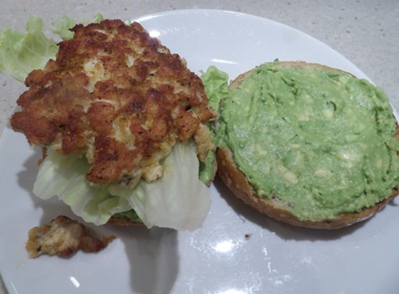 mango,salsa,for,burger  - Chicken and Mango Monster Burger with Guacamole and Salsa