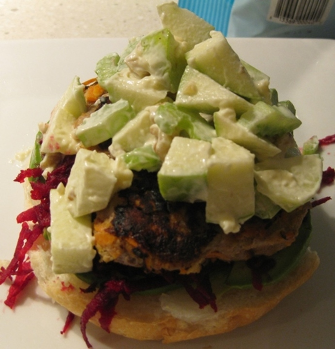 waldorf,salad,for,turkey,burger