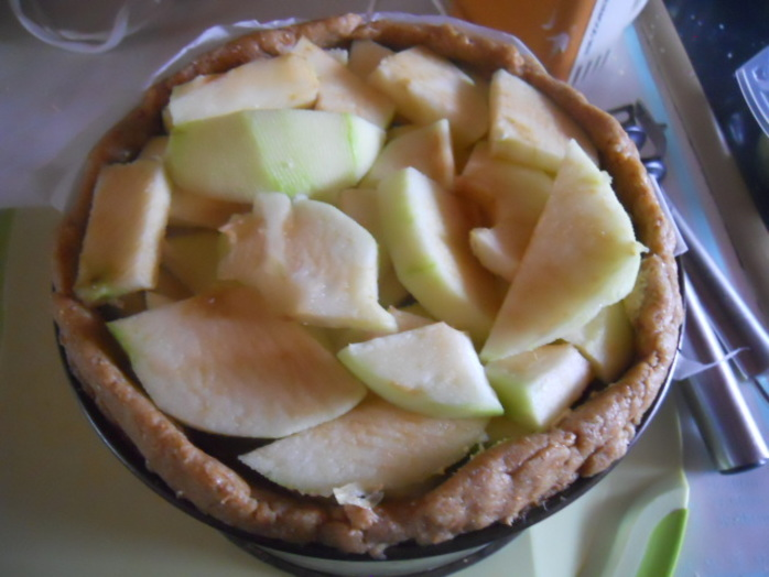 apple frangipane, pie, apples, frangipane, baking