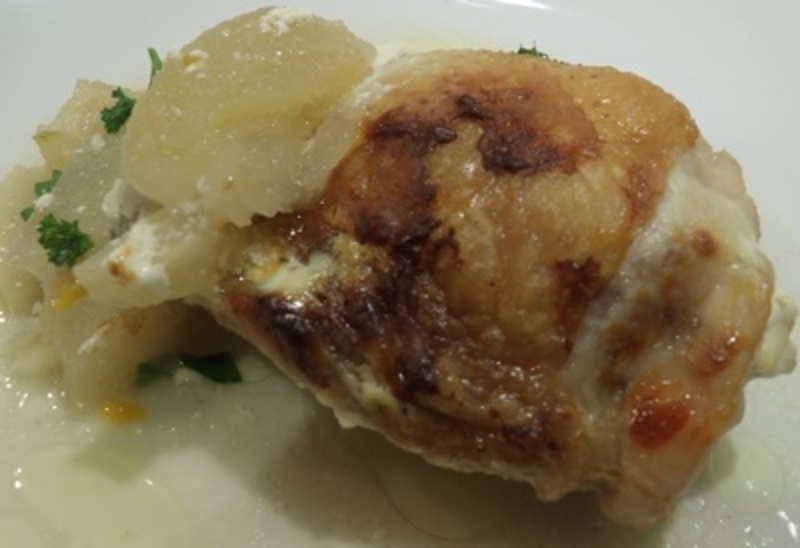 sprinkling,apples,with,orange,zest  - Apple Chicken with a Pecan and Apple Salad