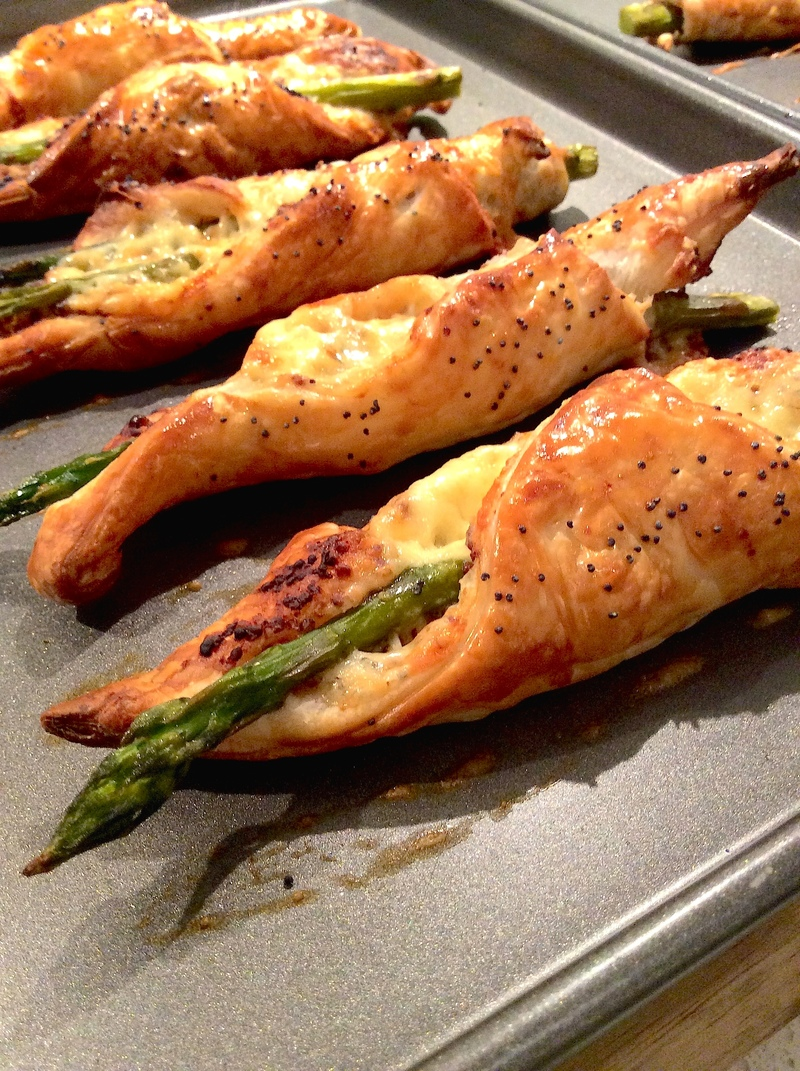 Asparagus and Mustard Pastries