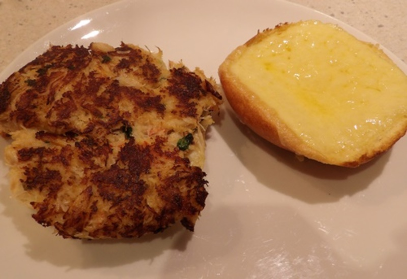mixing,ingredients,for,crab,cakes  - Crab Face Burgers