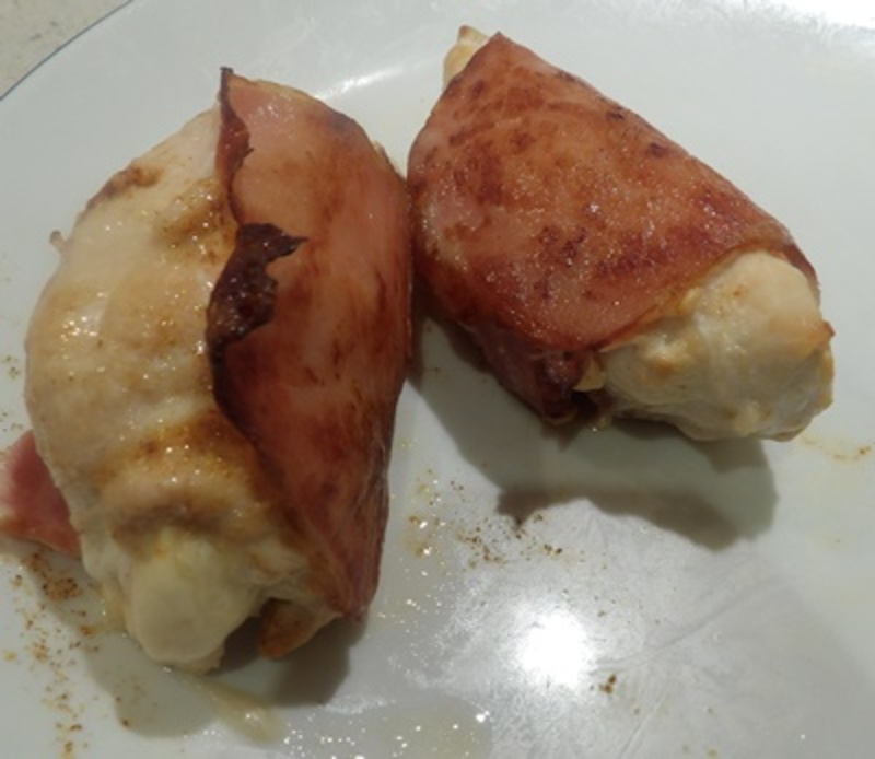 bacon,wrapped,cheese,filled,chicken,rolls