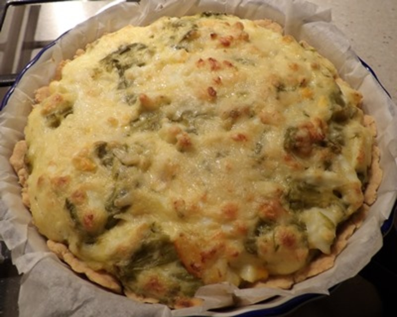 baked,asparagus,and,prawn,flan