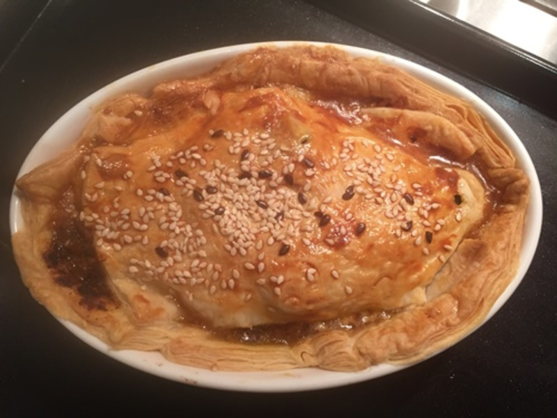 cooking,mince,onion,and,bacon  - Bacon Cheeseburger Pies
