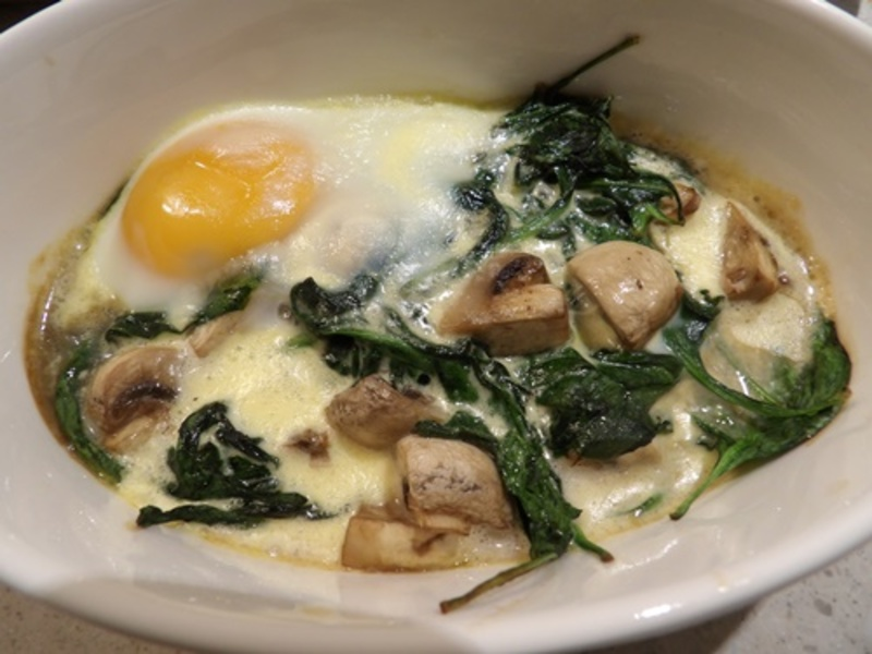 baked,spinach,mushrooms,and,egg  - Spinach Baked Eggs with Mushrooms - Brunch #14