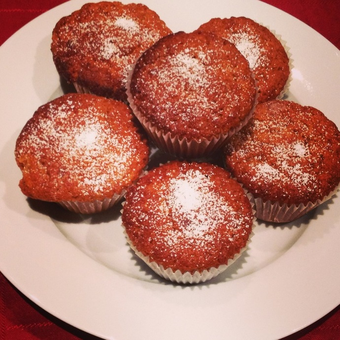 banana and Carrot Muffins: the final product :)