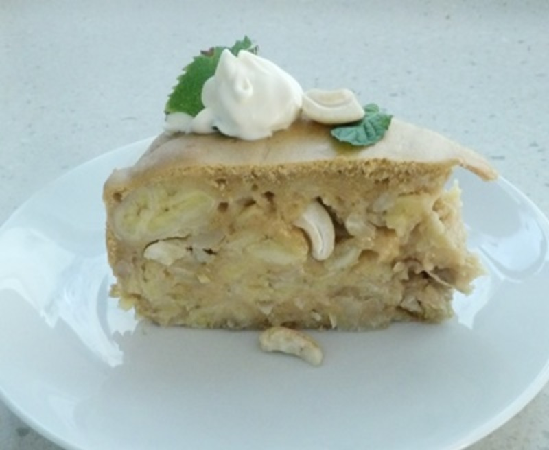 banana,and,cashew,nut,cake,with,coconut