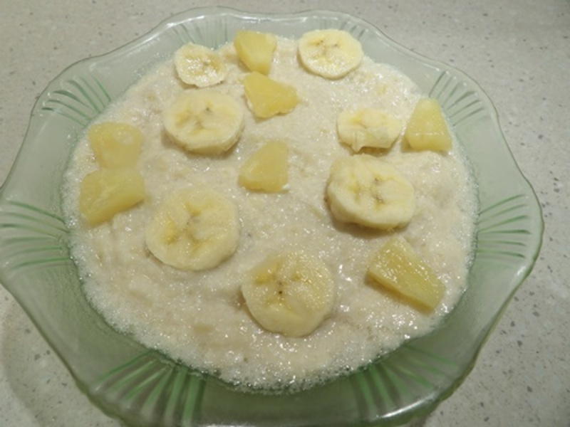 Banana,and,pineapple,mousse