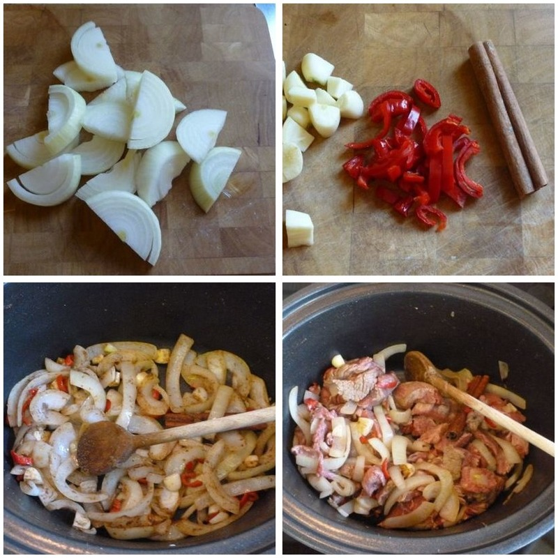 Beef and Beetroot Stew Montage - Beef and Beetroot Stew