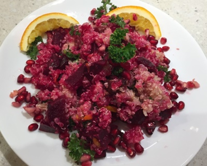 beetroot,quinoa,and,orange,salad,with,pomegranate,seeds