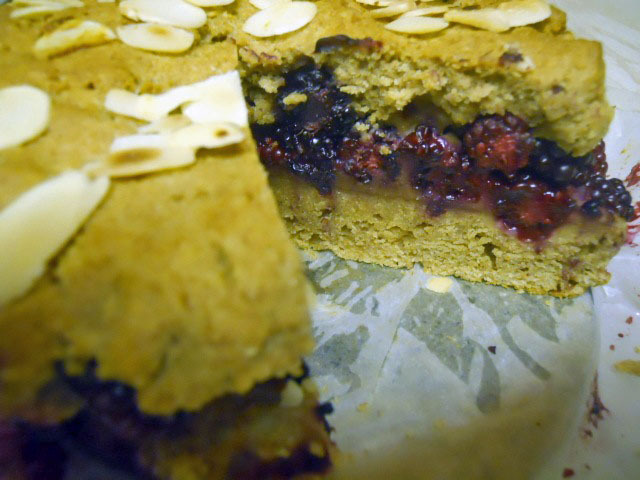 blackberry torte, cake