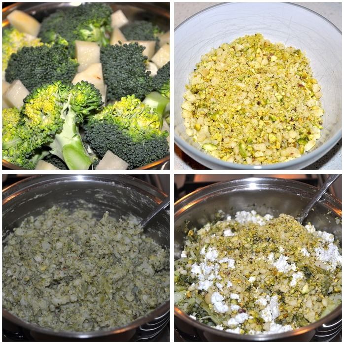 Broccoli Meatballs With Mustard Mayonnaise Montage