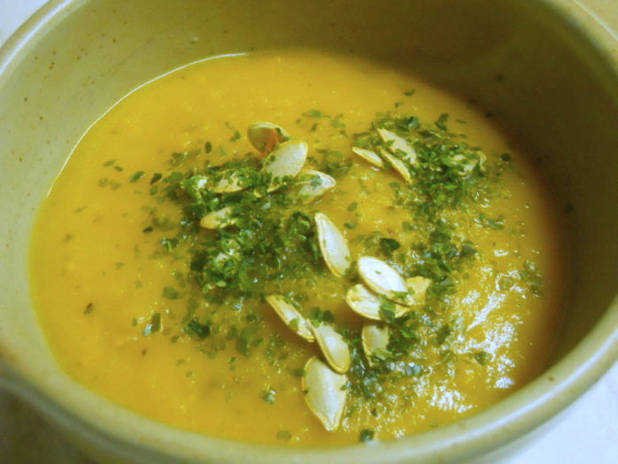 butternut squash and sweet potato soup, puree, blend, blender