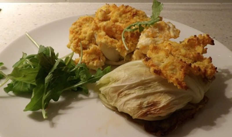 cabbage,parcels,with,pumpkin,ricotta,sauce  - Cabbage Vegetable Parcels With Pumpkin Ricotta Sauce
