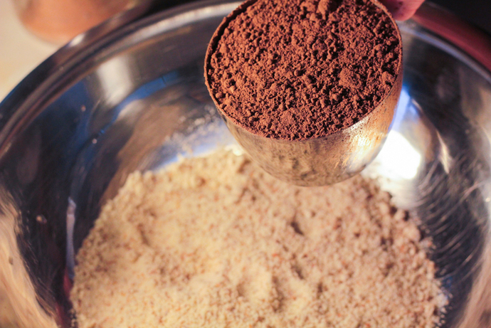 Raw chocolate and peanut butter mixture