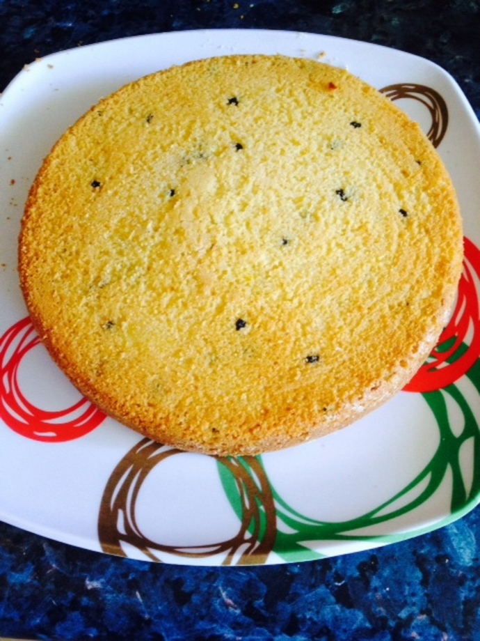 passionfruit cake with coconut yoghurt