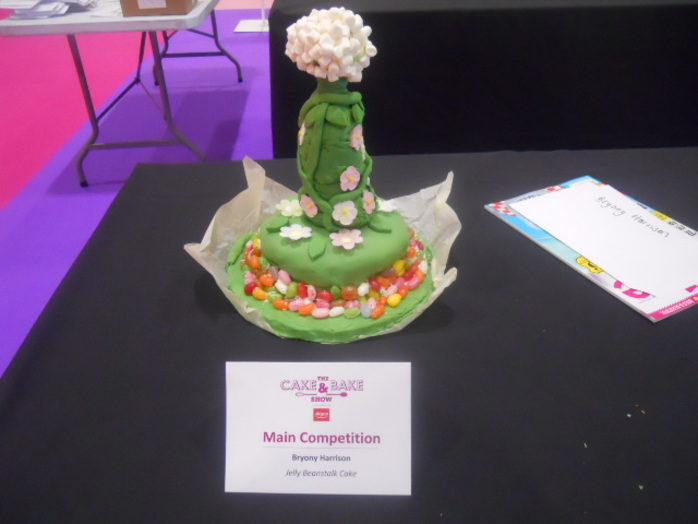 cake and bake show, jelly beanstalk cake, competition
