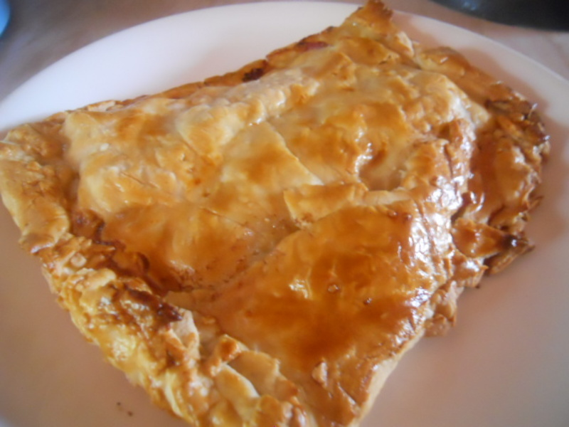 cheese & onion pasty, ham, stilton