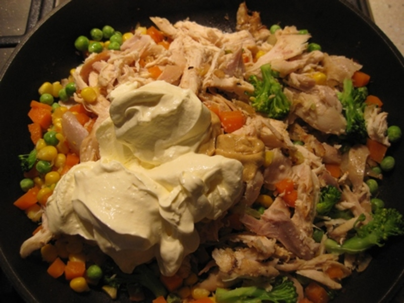 chicken  - Pasties with Chicken, Dijon Mustard, and Mixed Vegetables