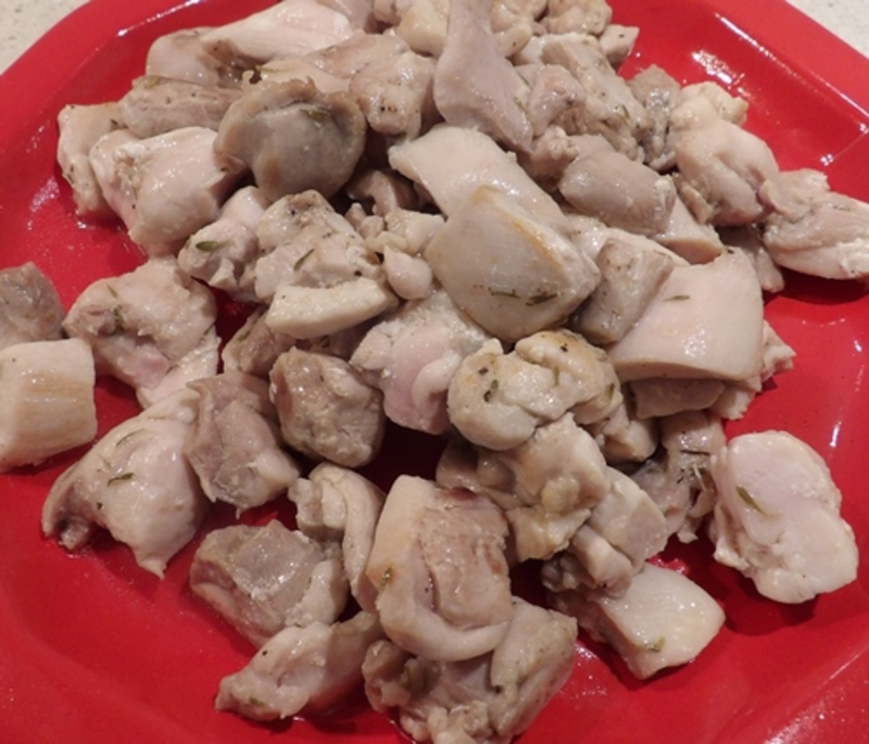 chicken  - Chicken Cooked in Apple Cider with Apple and Potato Mash