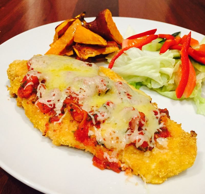 Chicken Parmigiana With Sweet Potato