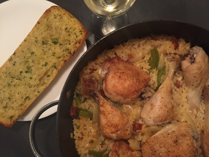 Chicken risotto, easy, one pot