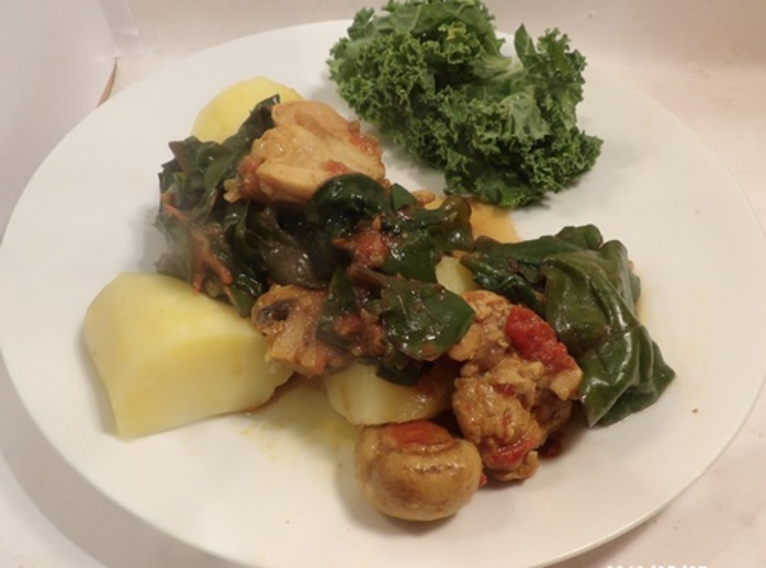 chicken,and,spinach,curry