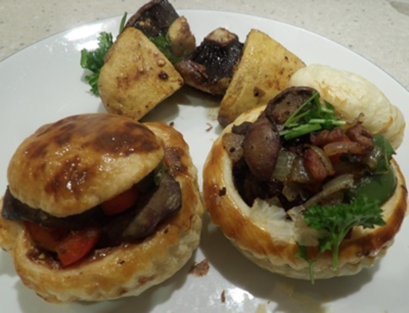 chicken,livers,inside,home,made,vol,au,vents  - Brazilian Mushrooms with Filled Vol-au-Vents