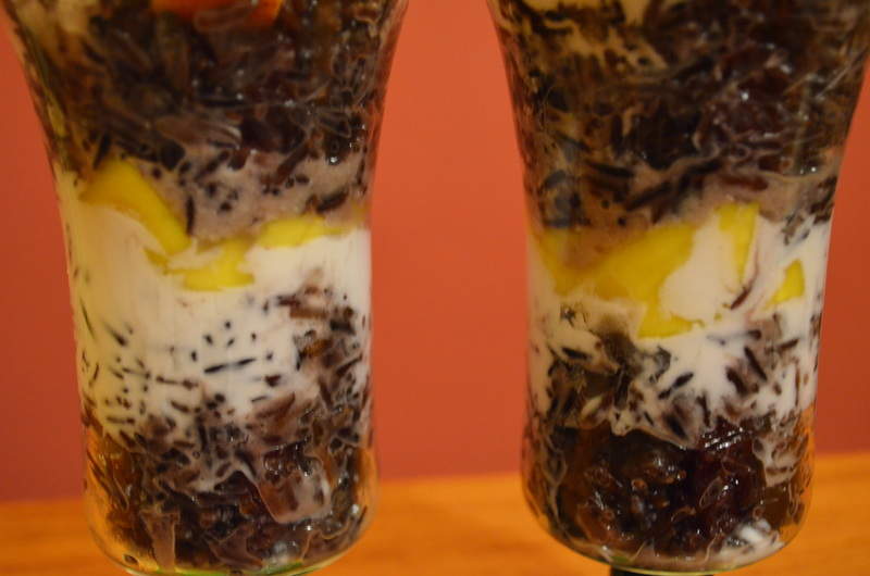 Coconut Rice Parfait, Mango