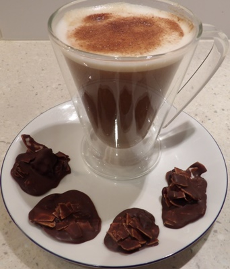 coconut,roughs,with,coffee  - Dark Chocolate Coconut Roughs