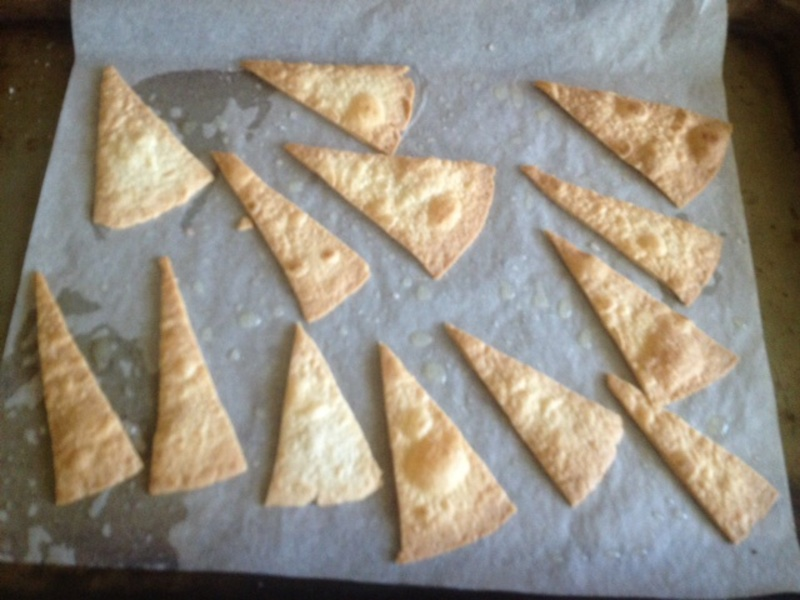 Chips with dip   - Baked Tortilla Chips