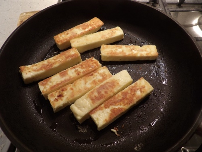 cooked,haloumi