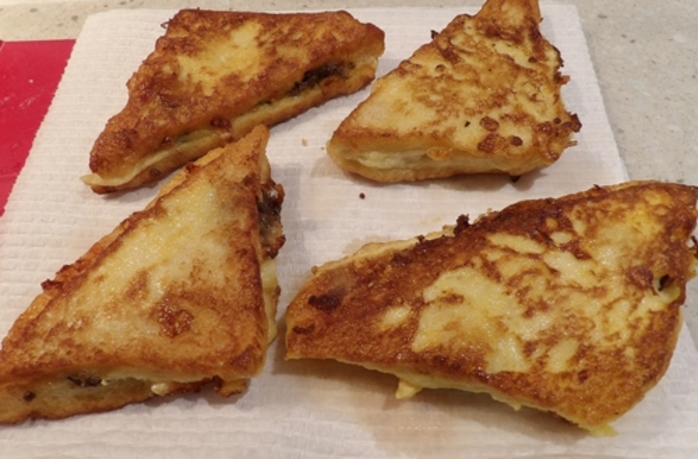 adding,cheese,and,anchovies,to,Mozzarella,french,toast