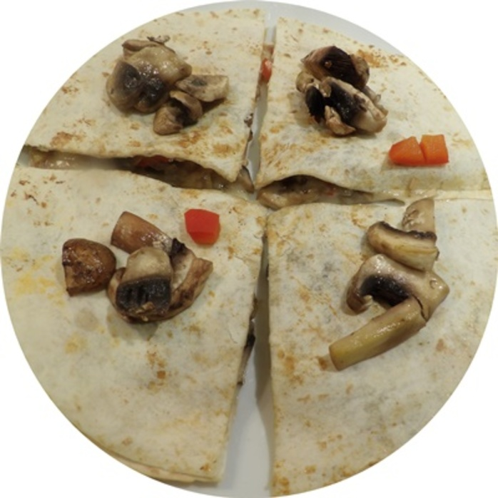 cooked,quesadillas,with,mushrooms