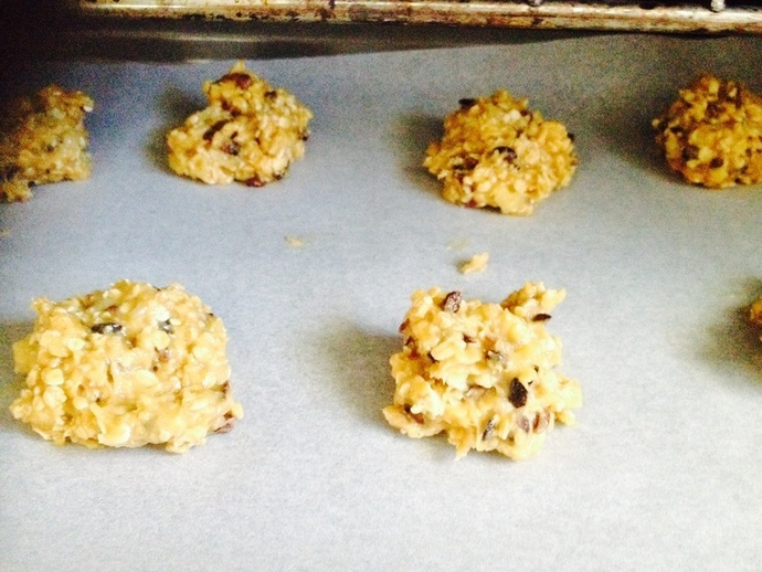 Cookies going into the oven