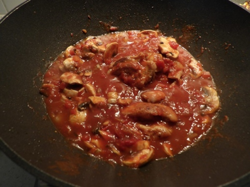mixing,ingredients,for,tri,coloured,latkes  - Chicken in Tomatoes with Three Coloured Latkes