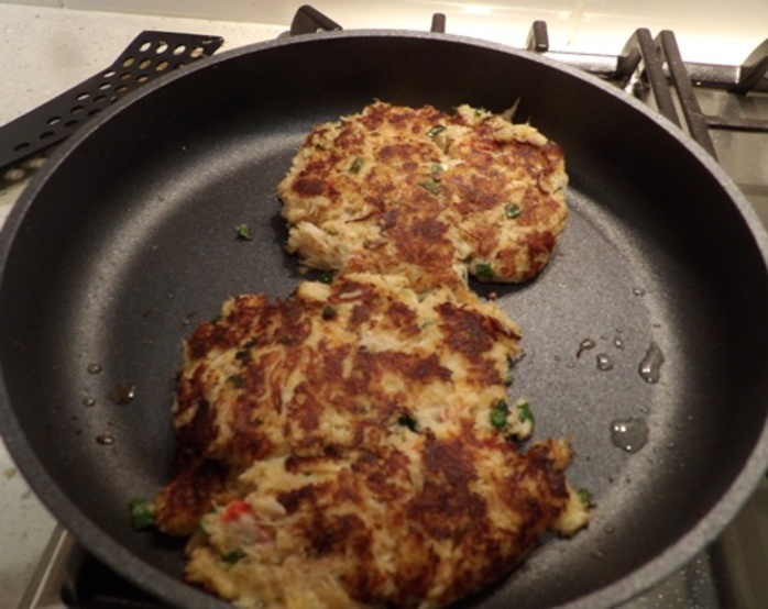 mixing,ingredients,for,crab,cakes