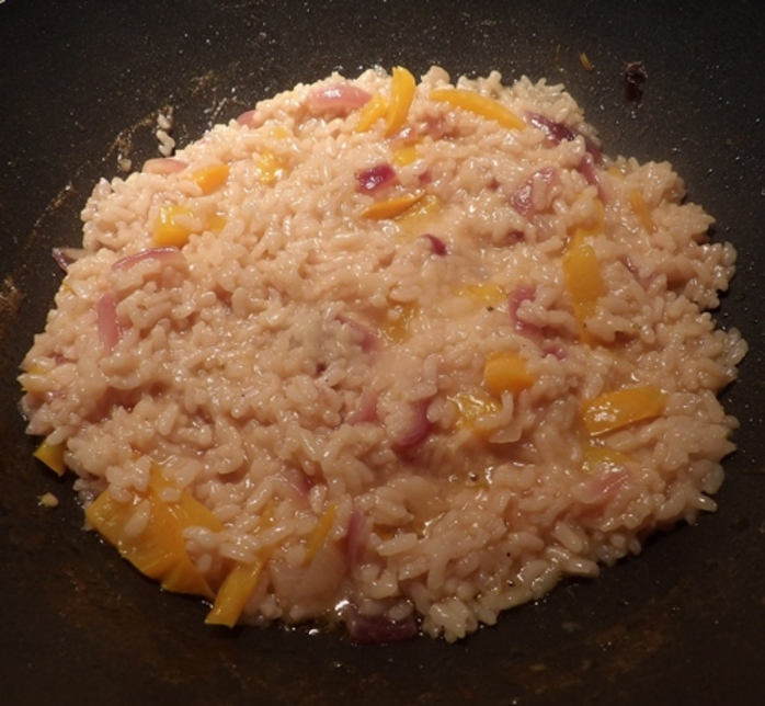 adding,rice,to,vegetables