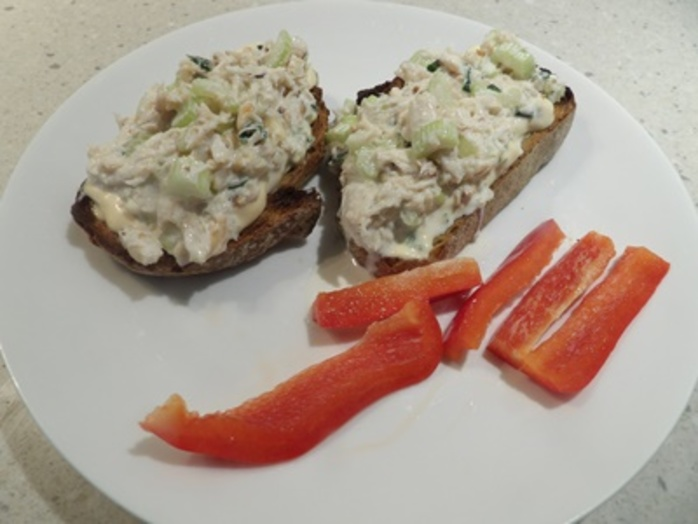 crab,mixture,on,toast,for,lunch