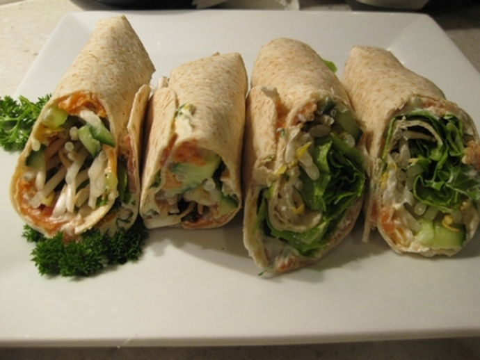 cream,cheese,smoked,trout,wraps