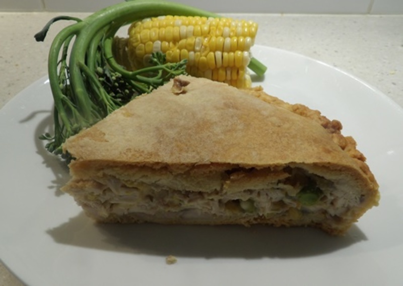 creamy,chicken,pie  - Creamy Family Chicken Pie with Home Made Pastry