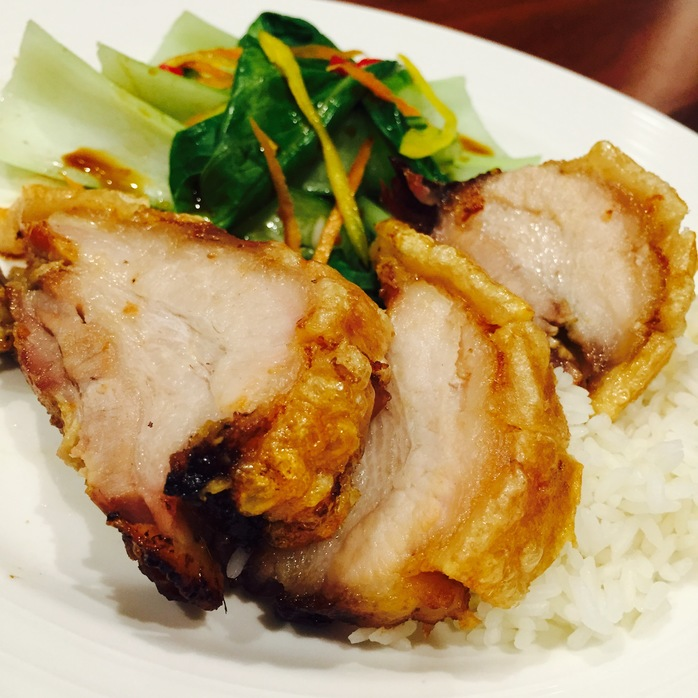 Crispy Pork Belly With Asian Greens