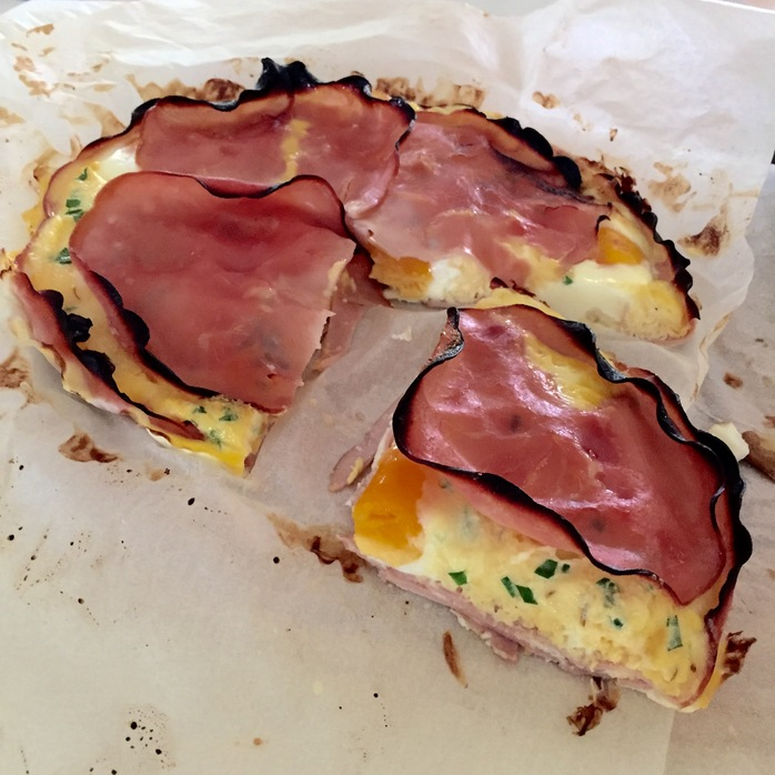 Crustless Bacon And Egg Pie
