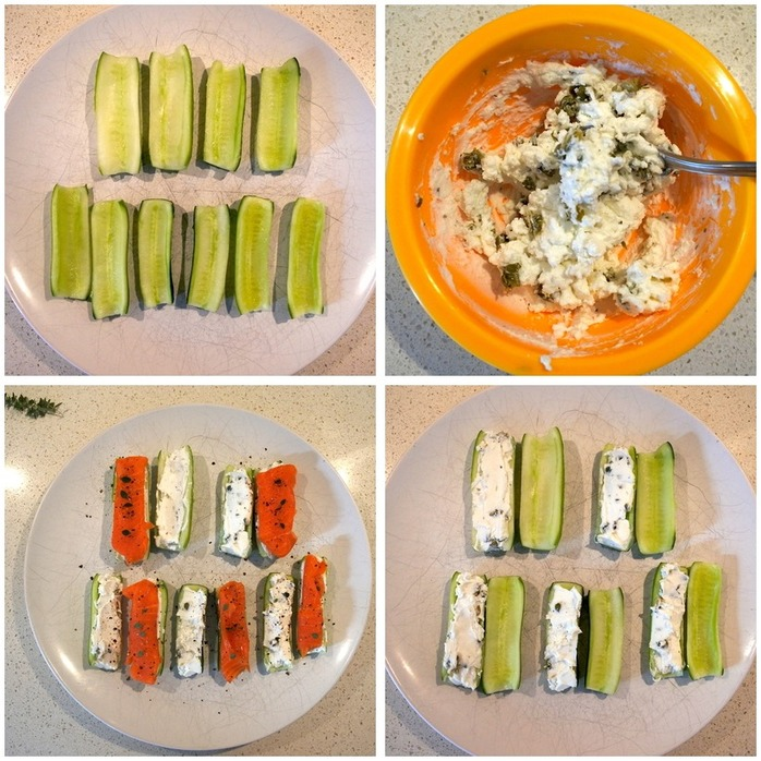 Cucumber Sandwiches (without bread) Montage