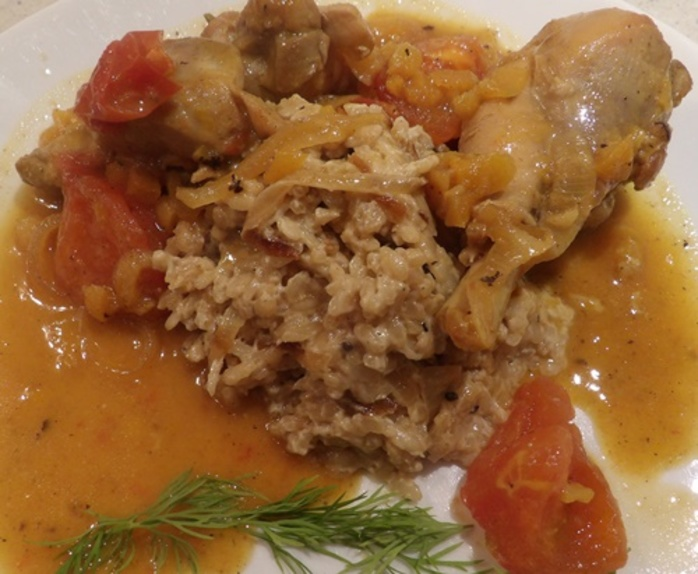 curried,apricot,chicken,with,coconut,rice